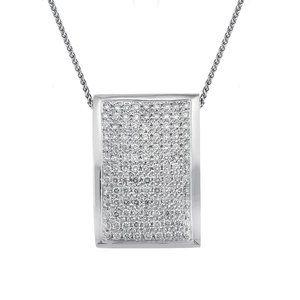 1.75 Carat Round Cut Diamond Slider Pendant